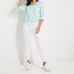 Vineyard Vines White High Rise Skinny Jeans 27